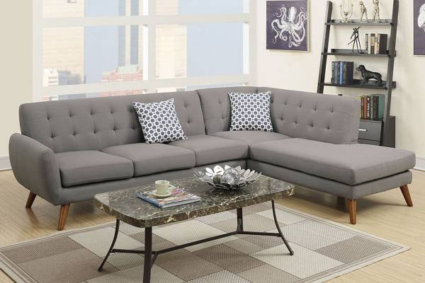 Amazing New Modern Linen Sectional Sofa Free Delivery Furniture Caraccident5 Cool Chair Designs And Ideas Caraccident5Info