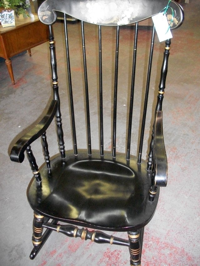 Furniture Yard Sale Of Black Painted Rocker Furniture Home For Sale On Cherry