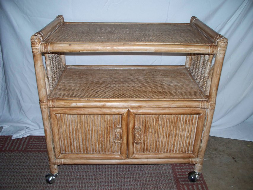 Rattan cart reduced furniture for sale on cherry for Furniture yard sale