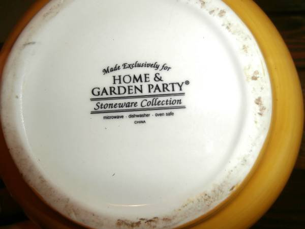 Home And Garden Party Stoneware Collection | Household For Sale On Kingwood  Bookoo!