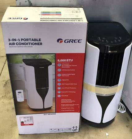 Gree 8,000 BTU Portable Air Conditioner   DISPLAY MODEL! | Appliances For  Sale On Naperville Bookoo!